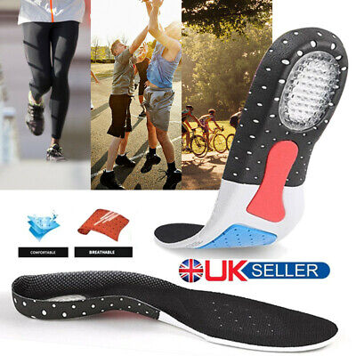1Pair Unisex Orthotic Arch Support Sport Shoes Absorb Gel Heel Pad For Men Women
