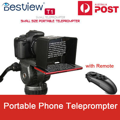 New Bestview T1 Portable Phone Teleprompter for Interview Speech Video Teaching