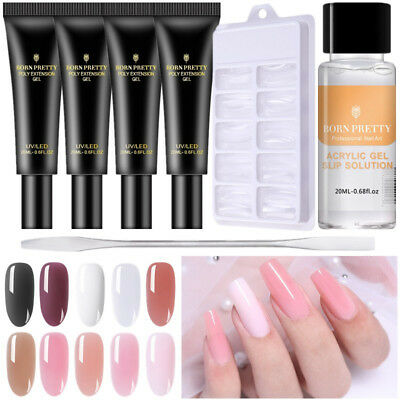 BORN PRETTY Thermal Poly Extension Gel Polish Dual Forms Brush Nail Art Design