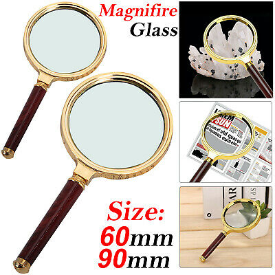 Handheld Jewelry Classic 10x Magnifier Magnifying Glass Loop Loupe Reading UK