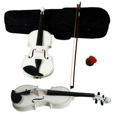 4/4 Full Size Acoustic Violin Fiddle Set with Case Bow Rosin for Student Adult