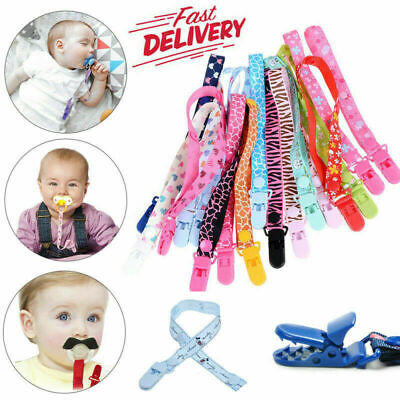 Toddler Dummy Clip Baby Soother Clips Chain Holder Pacifier Strap Many Designs