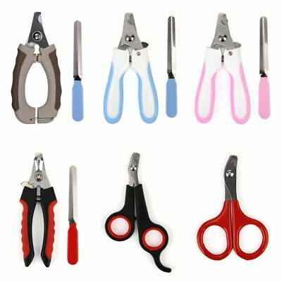 Pet Nail Dog Cat Claw Clippers Trimmer Scissors Grooming Cutters File DX