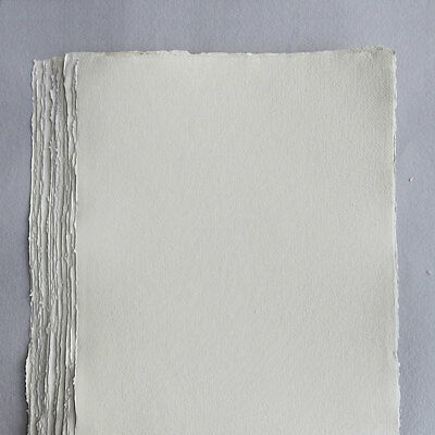 Khadi White Cotton Paper Pack 640gsm A3 50 Sheets. For Artist Watercolour & more