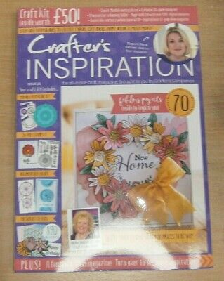 Crafter's Inspiration magazine Issue #23 2019 Stamp Set, Die, CD-Rom & more