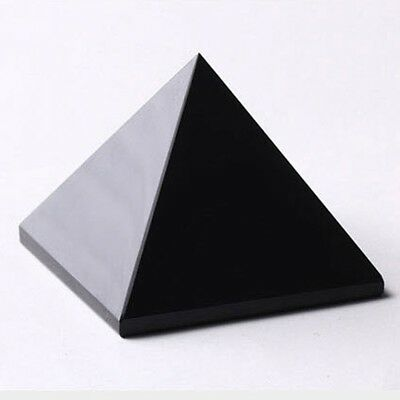 Natural Energy Charged Black Obsidian Pyramid Crystal Protective Healing NEW