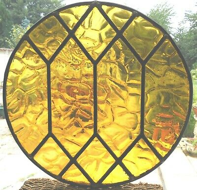 Fully Restored Vintage Stained Glass Round Panel - Ref Sg383