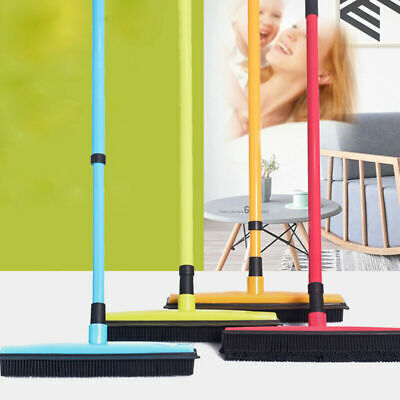 Rubber Broom For Pet Dog Cat Hair Sweeper Squeegee Windows Car Long Handle AU