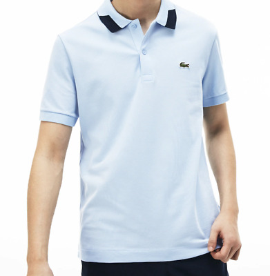 Lacoste Polo Shirt Slim Fit Piped Sleeves Petit Piquè Men's Polo New