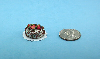 1:12 Scale Dollhouse Miniature Heart Shaped Valentines Bakery Cake w//Roses #S150