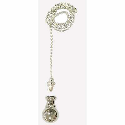 Royal Designs Fan Pull Chain with Small Ball Finial  Silver