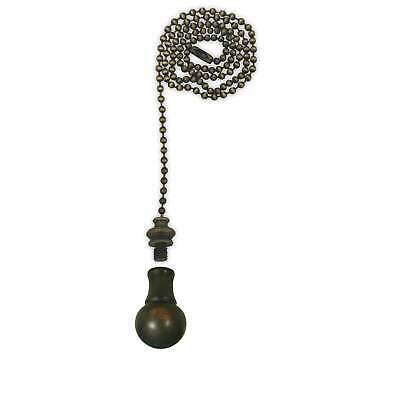 Royal Designs Fan Pull Chain with Small Ball Finial  Antique Brass