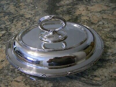 Vintage Regal Neo-Classical Sheffield Silver Covered Entree Dish Set / Tureen