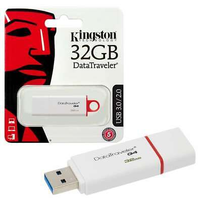 Kingston USB Memory Stick 32GB USB Stick 3.0 Data Traveler G4 Flash Pen Drive UK