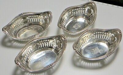 Antique Sterling Sliver Small Nut Dishes Set Of 4