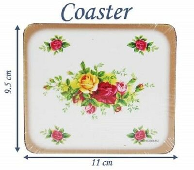 New in Box Royal Albert Old Country Roses Set of 6 Corkback Coasters