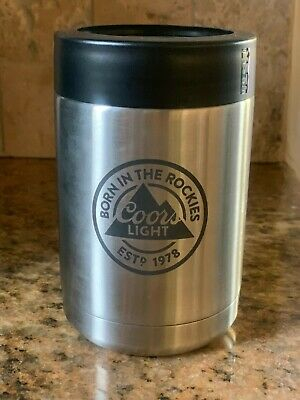 Coors Light Yeti Rambler 12oz Insulated Stainless Steel Colster
