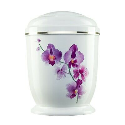 Urns for Ashes Adult Large Cremation Funeral Human Remains Memorial Metal Orchid