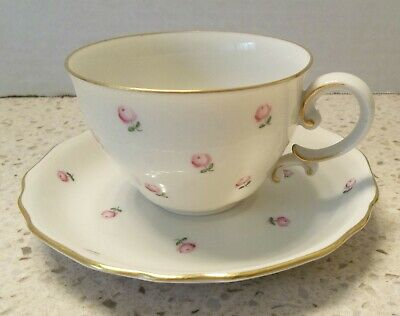 Vintage Mini Pink Roses TEA CUP & SAUCER Made in Austria Numbered 62/5009