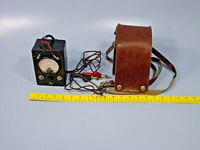 Vintage M-P Instruments KS-8455L2 Bell System Ohm Meter With Leather Case