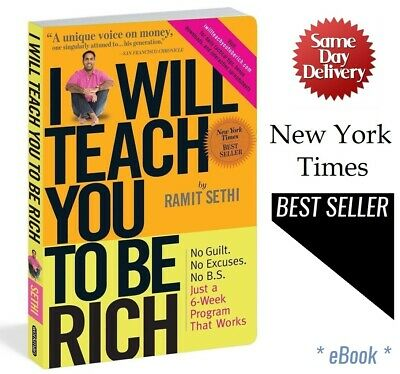 I Will Teach You to be Rich by Ramit Sethi 2009 Super Fast Delivery (PDF file)