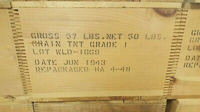 Original WWII Wooden TNT Explosive Box