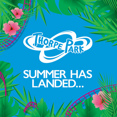 Thorpe Park, 2 x Paper Tickets, Wednesday 4th September, 19 **SCHOOL HOLIDAYS**