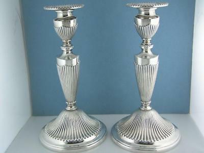 """pr Sterling TIFFANY & CO 8 1/4"""" Candlesticks Germany 21.70 ozt - not weighted"""