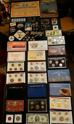 coin LOT big collection MINT SETS PROOF $2 vintage train SILVER NO JUNK DRAWER