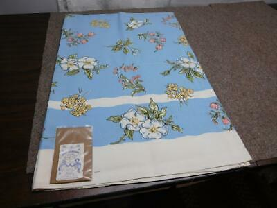 """Vtg 40'S Kate Greenaway """"Language Of The Flowers"""" Leacock Tablecloth 52"""" X 70"""""""