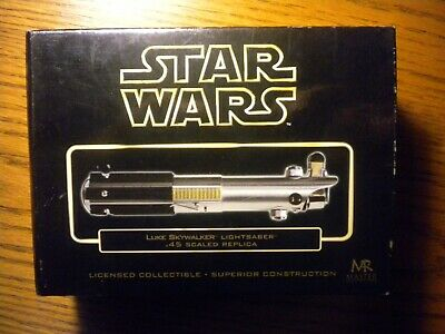 Star Wars Master Replicas Luke Skywalker Lightsaber .45 Scaled Replica MIB COA