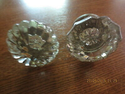 7 Vintage Antique East Lake Victorian Clear Glass Door Knobs- 3 sets