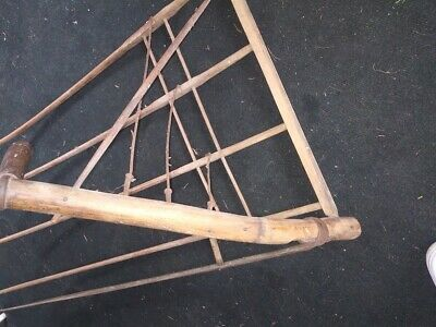 Vintage Amish Grain cradle with Scythe very nice condition