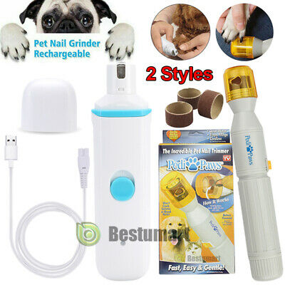 Electric Pedi Paws Nail Trimmer Grinder Groom Claw Care Clipper For Pet Dog Cat