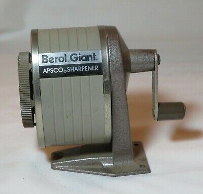Vtg Pencil Sharpener Table Wall Mount Desk Metal Old Fashion Office Old School