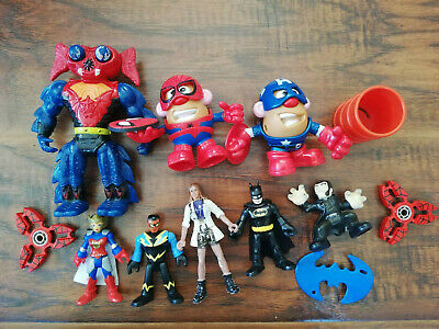 Lot -Toys Spinners+Super Hero Action Figures Marvel DC Comics Lot 8
