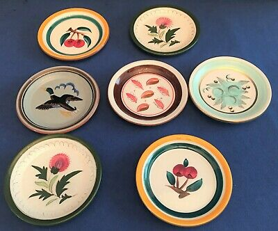 7 Stangl Various Designs Coasters Thistle Frosted Fruit Flying Duck Windfall