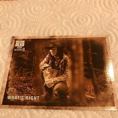 2018 TOPPS THE WALKING DEAD Season 8 Part 1 Sepia 9/10 Carl Grimes What's Right