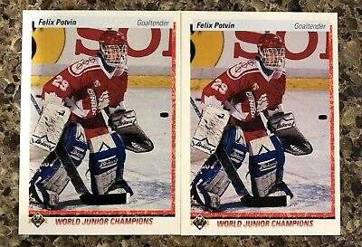 Felix Potvin 1990-91 Upper Deck RC 1991-92 Star Rookie Lot (12) Toronto