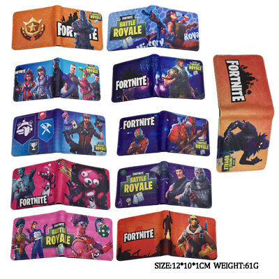 POP Fortnite Cartoon Kids Boys Money Wallet Bag Gift Present 14 Kinds Of Options