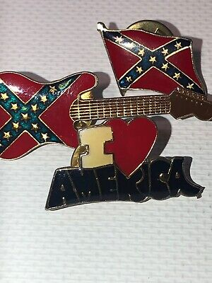 Lot Of 3 Southern I Love America Lapel Pins Donald Trump