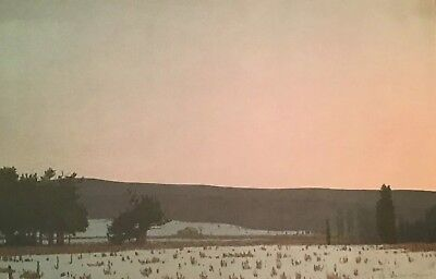 Russell Chatham Original Lithograph Winter Dawn South Park Yellowstone Signed #d