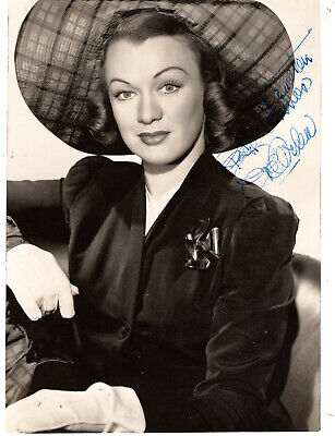 Character Actress Eve Arden ,Signed Vintage Studio Photo. 5X7