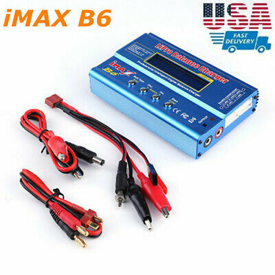 IMax B6 Digital LCD Lipo NiMh Battery balance Charger US Fast Ship R2T0