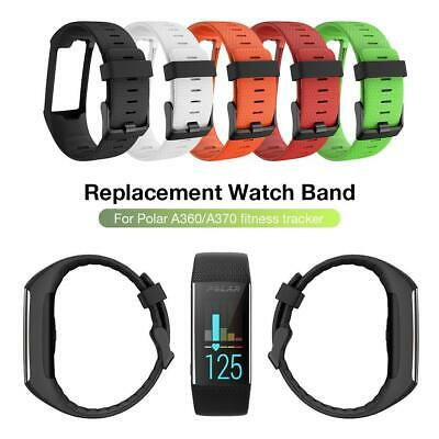 Silicone Replacement Strap Buckle Watch Band For Polar A360 A370 GPS Bracelet
