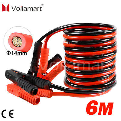 3000AMP Jump Leads Heavy Duty Battery Start 6 Metre Booster Cables Car Van Truck