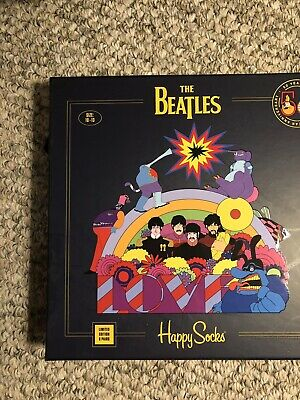 Happy Socks The Beatles Limited Edition 50th Anniversary 6 pc Gift Set Collector