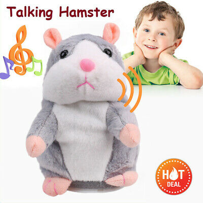 Cheeky Hamster Repeats What You Say Electronic Cute Pet Talking Plush Gift Toy