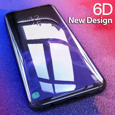 6D Full Coverage Screen Protector Tempered Glass For Samsung Galaxy S9 S8 Plus