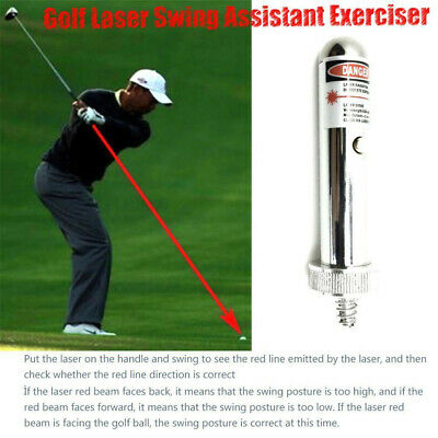 Laser Sight Golf Swing Training Aid Flat Concealer Trainer Pointer Point Tool US